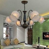 Люстра на несколько плафонов стиль гостиная лампа столовая лампа торшер спальня освещение sim plepersonality современная лампа ZX40