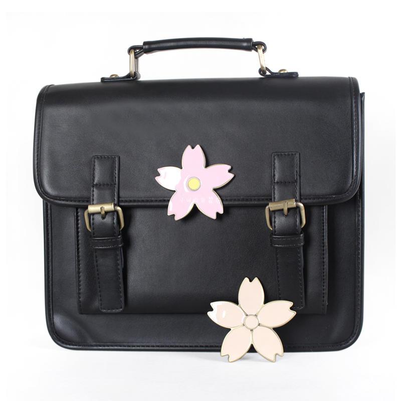 Sac à main en cuir vintage japonais femmes sacs d'école pour fille lolita sac à dos cerise fourre-tout femme poignée supérieure dames sac à main mochila