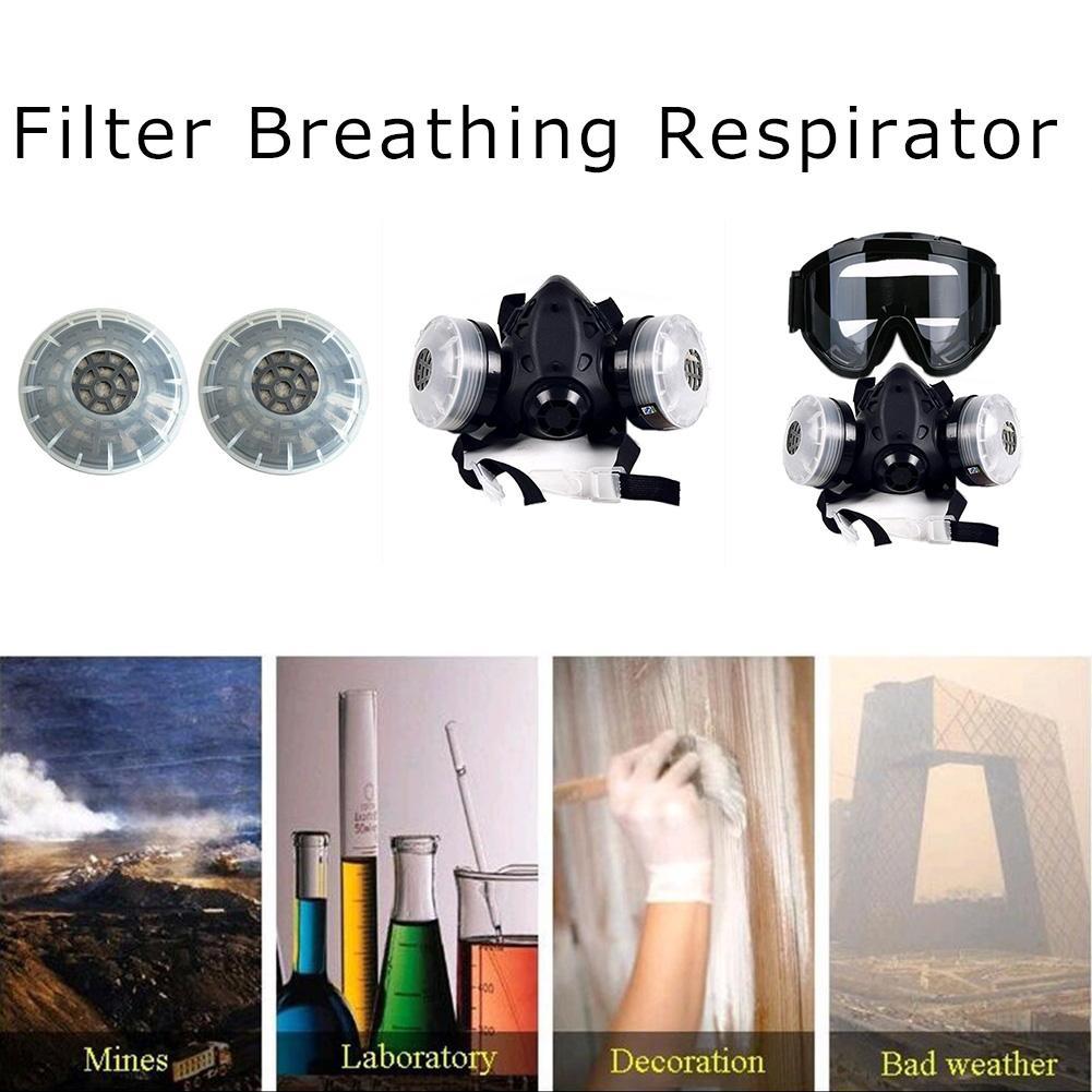 HTB1c21kXRr0gK0jSZFnq6zRRXXaI In stock! Half Face Gas Mask With Anti-fog Glasses N95 Chemical Dust Mask Filter Breathing Respirator For Painting Spray Welding