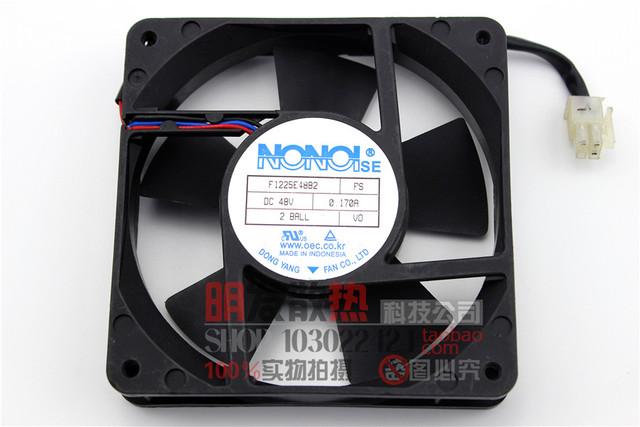 Original 12 CM 48V0. 17A 12025 industrial ventilador de refrigeração de energia F1225E48B2