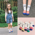 2016 5 pairs 1-10 New Year's fall children's short socks girls 100% cotton children's the new  socks cute big eyes child