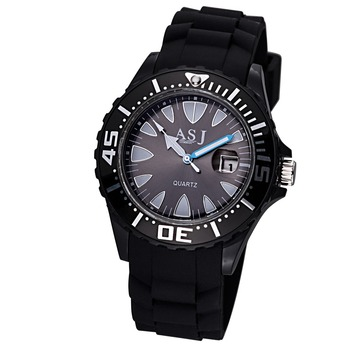 ASJ 2018 nuevos relojes de silicona casuales de moda, reloj de cuarzo para estudiantes, Chico y Chica elegantes para relojes de pulsera, reloj con calendario
