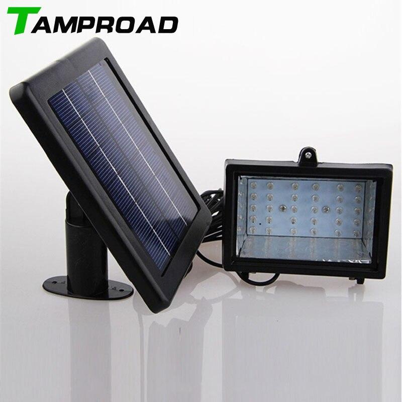 TAMPROAD système d'éclairage solaire à la maison projecteur 30 LED lumière extérieure lumière d'inondation solaire lampe de paysage pour pelouse jardin route hôtel