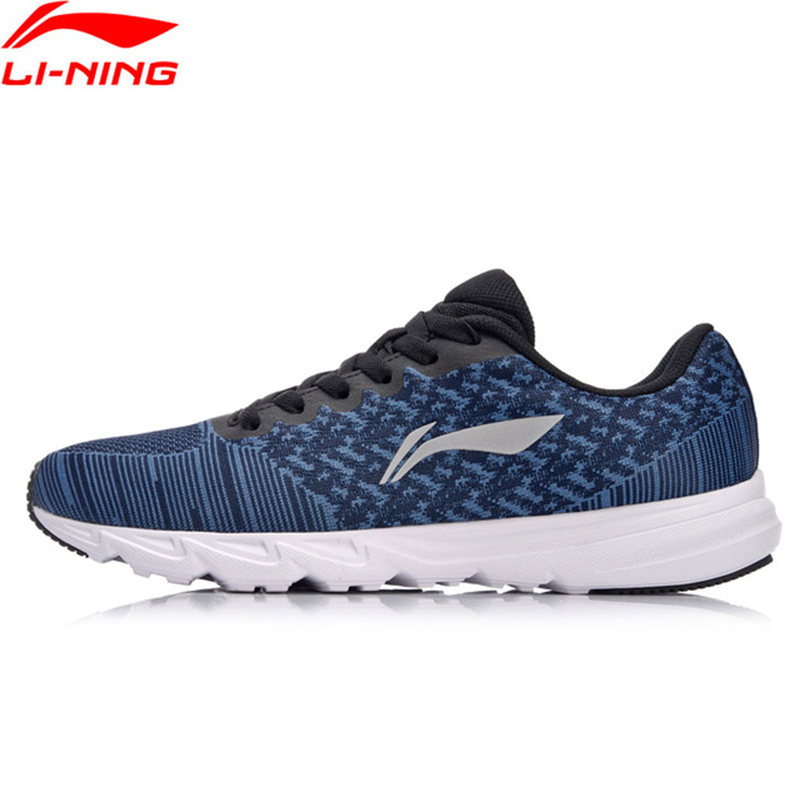 Li-Ning 2018 Men EZ RUN Cushion Running Shoes Light Weight Sneakers Wearable Footwear Anti-Slippery Li Ning Sport Shoes ARBN019 kelme 2016 new children sport running shoes football boots synthetic leather broken nail kids skid wearable shoes breathable 49