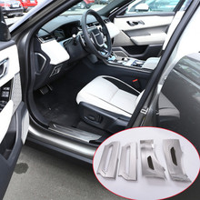 For Range Rover Velar 2017 Car-Styling 304 Stainless Interior Door Sill Scuff Threshold Plate Trim Car Accessories 4pcs aluminum alloy exterior door sill scuff threshold protector plate cover trim for land rover discovery 5 lr5 2017 car styling