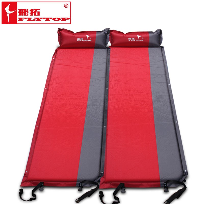 2Pcs/1lot! Flytop Hot Sale (170+25)*65*5cm Single Person Automatic Inflatable Mattress Outdoor Camping Fishing Beach Mat