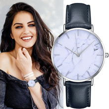 Women's Clock Ladies dress watch Simple Stylish Marble Dial Watches