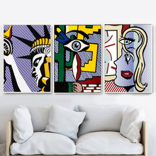 Surrealism Statue Of Liberty Pop Art Nordic Posters And Prints Wall Art Canvas Painting Wall Pictures For Living Room Home Decor surrealism