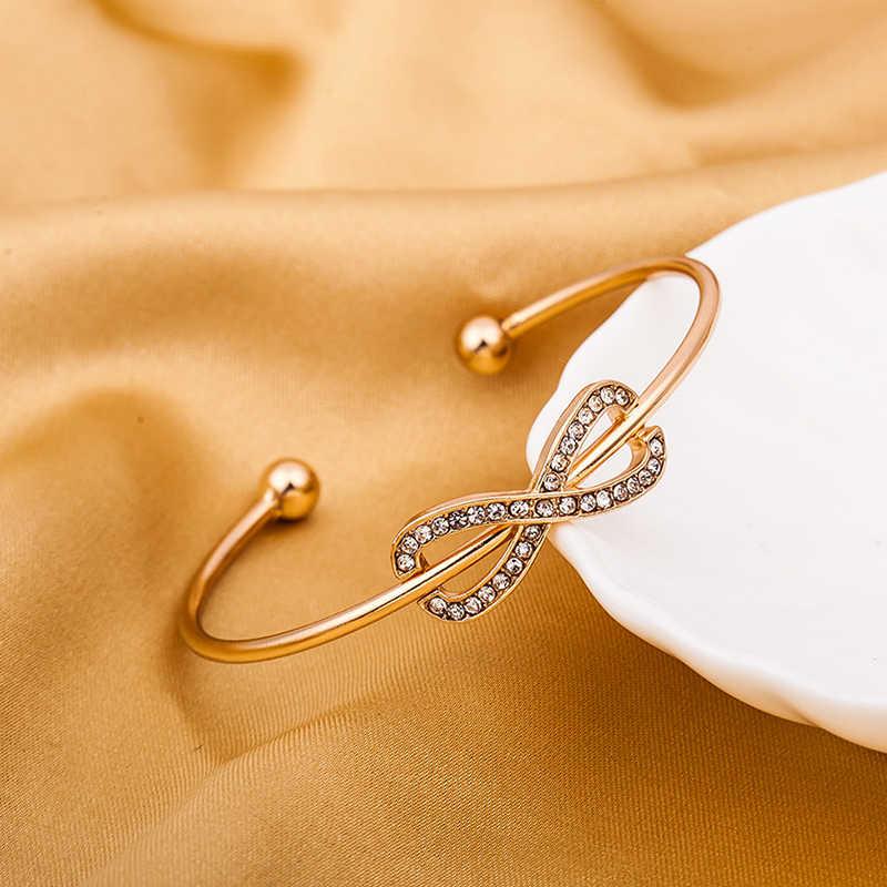 CHENFAN bracelets for women Jewelry bijouterie Blangle Lucky number 8 woven pulceras y brazaletes stainless steel bracelet open
