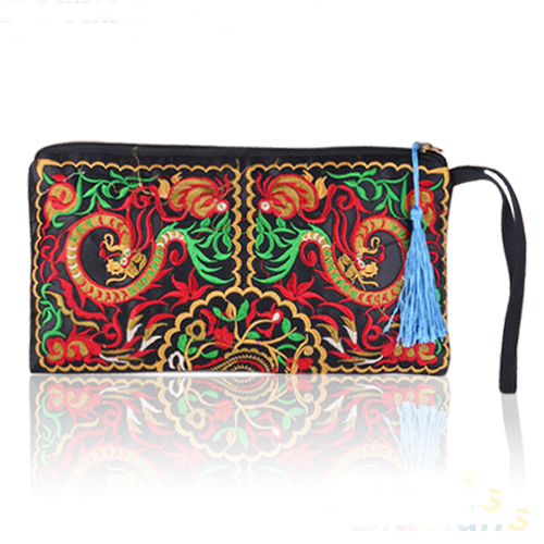 Women's Retro Ethnic Embroider Purse Wallet Clutch Card Coin Holder Phone Bag 1UC2 4OR4 телефон cisco uc phone 7821