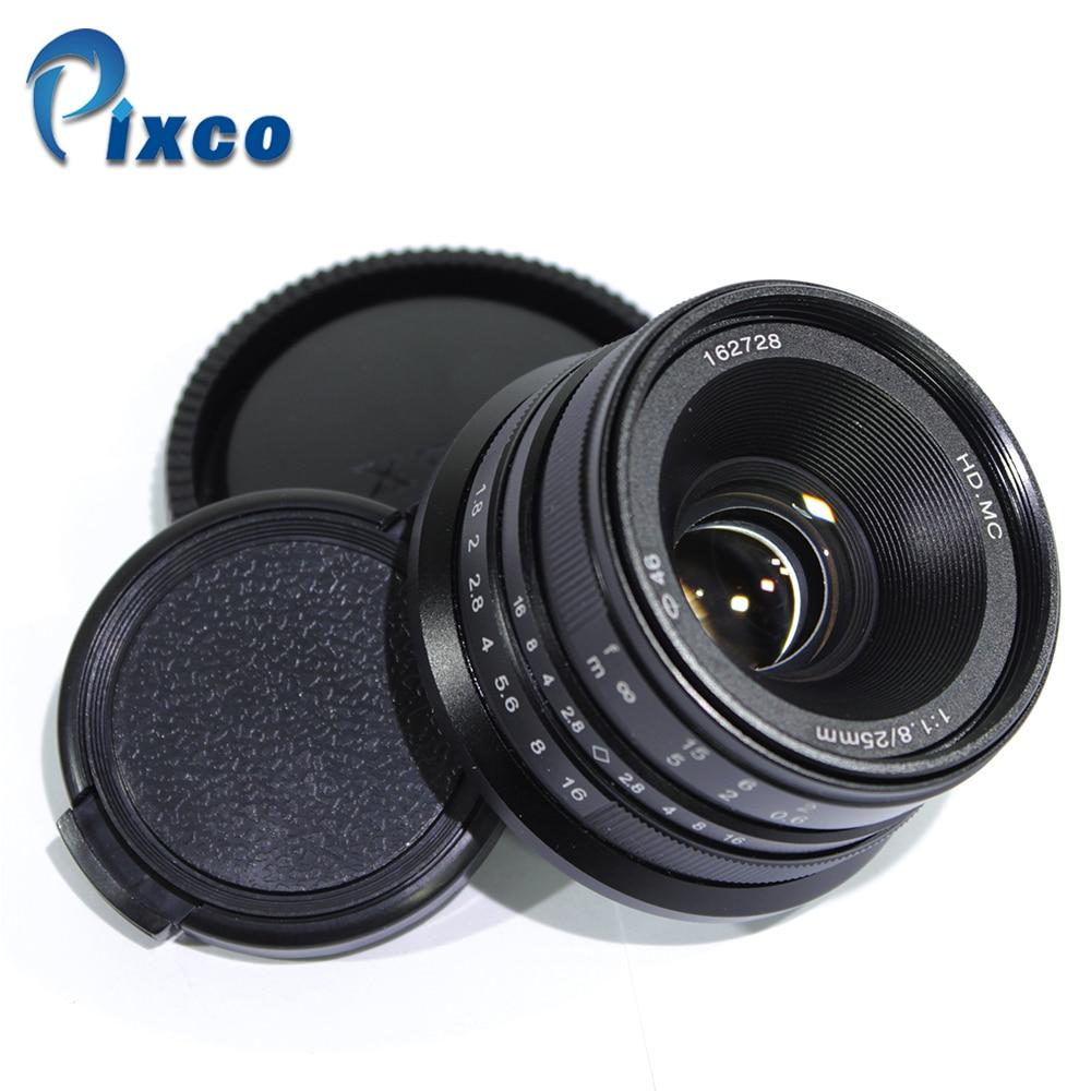 Pixco 25 мм F1.8 HD. MC ручная фокусировка объектива для Sony NEX/Micro Four Thirds m4/3 камер gx8 gx85 G7 gf7 e-m10 II A7 A6500 NEX-5