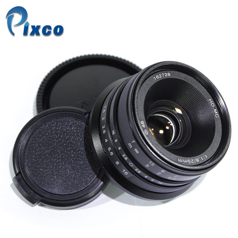 Pixco 25mm F1.8 HD. MC Manuel Focus Lens pour Sony Nex/Micro Four Thirds M4/3 Caméras GX8 GX85 G7 GF7 E-M10 II A7 A6500 NEX-5