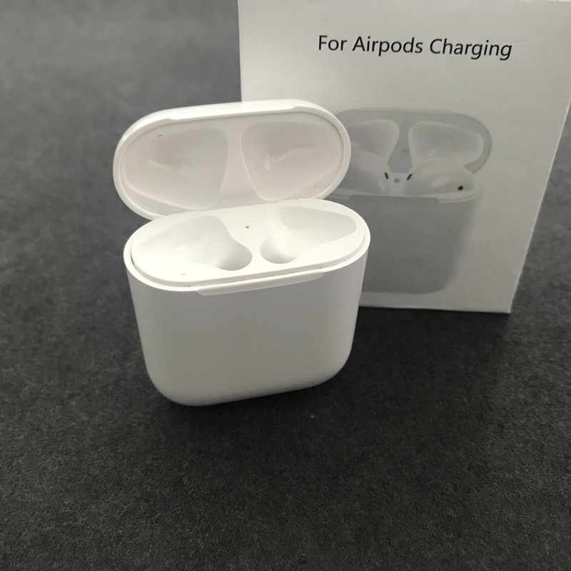 premium selection e4b52 e0cd9 New Wireless Charging Case Box for Airpods Bluetooth Headset Charging Base  Box for Apple Airpods