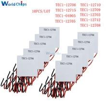 10 Pcs TEC1 12705 Termoelettrico Del Dispositivo di Raffreddamento Peltier TEC1 12706 TEC1 12710 TEC1 12715 SP1848 27145 TEC1 12709 TEC1 12703 TEC1 12704
