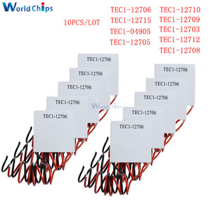 Image 1 - 10pcs TEC1 12705 열전기 냉각기 펠티어 TEC1 12706 TEC1 12710 TEC1 12715 SP1848 27145 TEC1 12709 TEC1 12703 TEC1 12704
