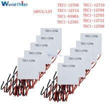 Enfriador termoeléctrico Peltier, TEC1 12705, TEC1 12706, TEC1 12710, TEC1 12715, SP1848 27145, TEC1 12709, TEC1 12703, 10 Uds.
