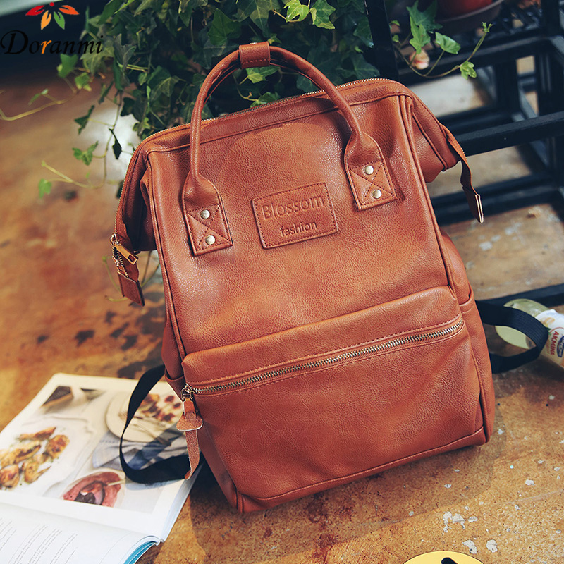 DORANMI  Vintage Large Backpack For Women PU Leather Fashion Laptop Bags Traveling Casual Backpack High Quality Schoolbag SJB082DORANMI  Vintage Large Backpack For Women PU Leather Fashion Laptop Bags Traveling Casual Backpack High Quality Schoolbag SJB082