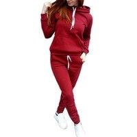 Autumn Winter Sport Suit Women Tracksuits Pullover Top Running Set Jogging Suits Hoodies Sweat Pants Sportswear