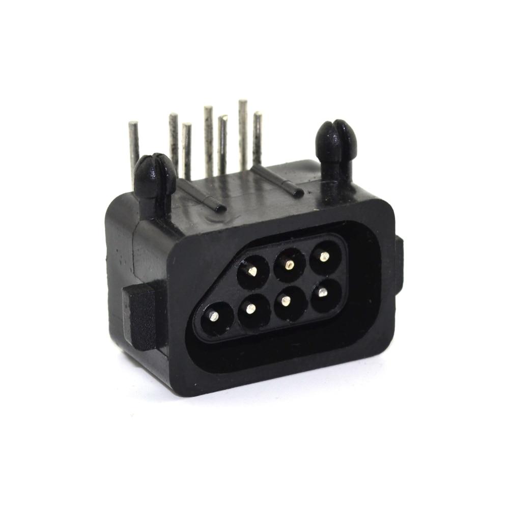 10pcs veliko Nadomestni deli 90 stopinj 7-polni konektor ženski za NES konzolo vtičnica