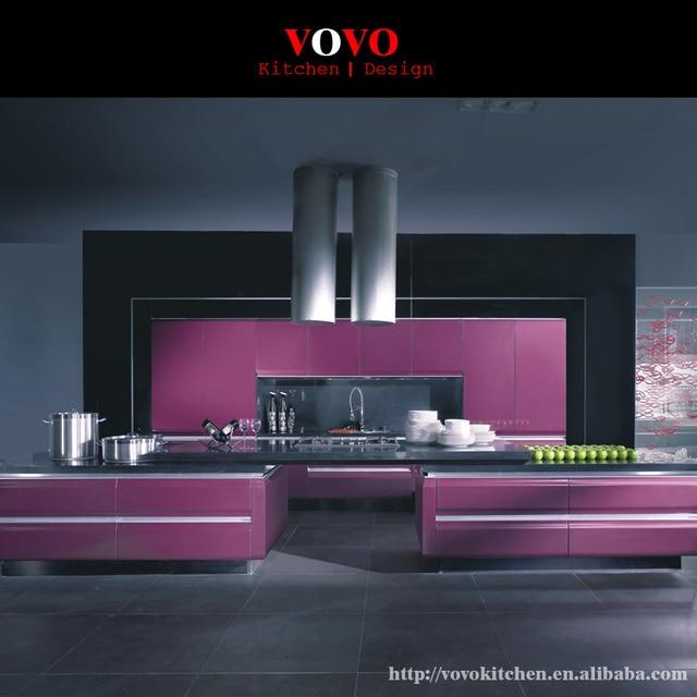 Modern Purple Painting Kitchen Cabinet