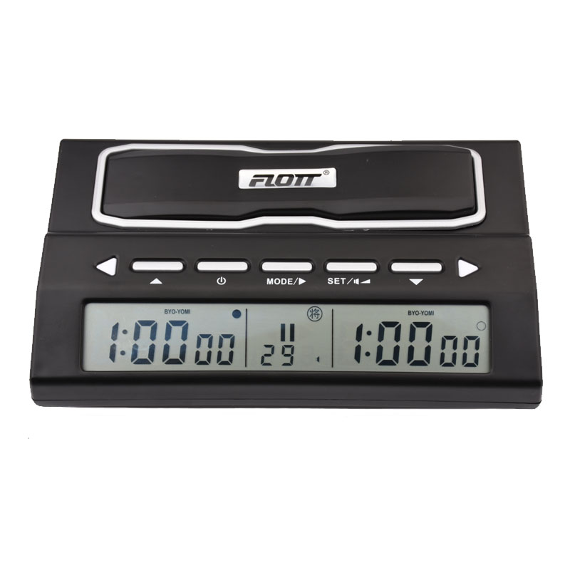 FLOTT Digital Chess Clock Count Up Down Timer Professional Sports Electronic Checkers Competition Chess Pieces Board Game Watch