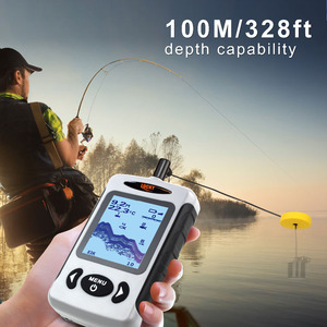 Image 3 - LUCKY FF718D Portable Fish Finder Dual Sonar Frequency 200KHz/83KHz 100M Detection Muti language Fishfinder Sonar for Fishing