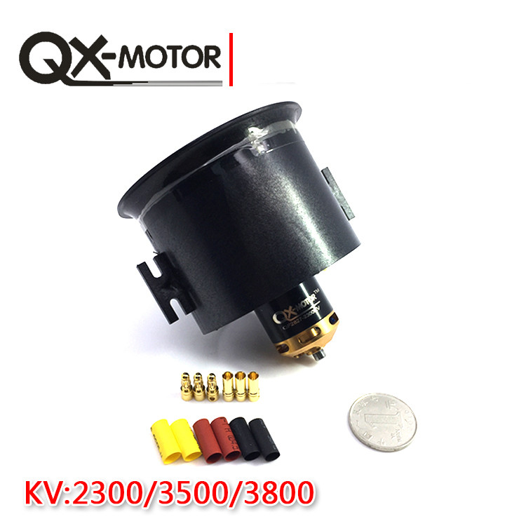 70mm Ducted fan 6 EDF QF2827 <font><b>Motor</b></font> 2300KV/ 3500KV /<font><b>3800kV</b></font> Brushless <font><b>Motor</b></font> for RC Quadcopter Airplanes F22133/5 image