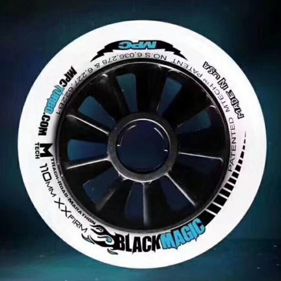 Ruedas Mágicas Negras Mpc Src Xxfirm Xfirm Firme 110/100/90mm Neumáticos De Carreras De Maratón Para Velocidad En Línea Patines De Pista De Patinaje A094