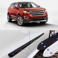 Car styling 4pcs High Quality Brand New Side Doors Rubber Bumper Protector Guard Scratch Sticker Trim For Ford Vehicle