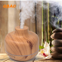 400ml Wood Diffuse Aroma Humidifier 24V 7Led Lamp Aramatherapy Essential Oil Humidifier For SPA HOME OFFICE