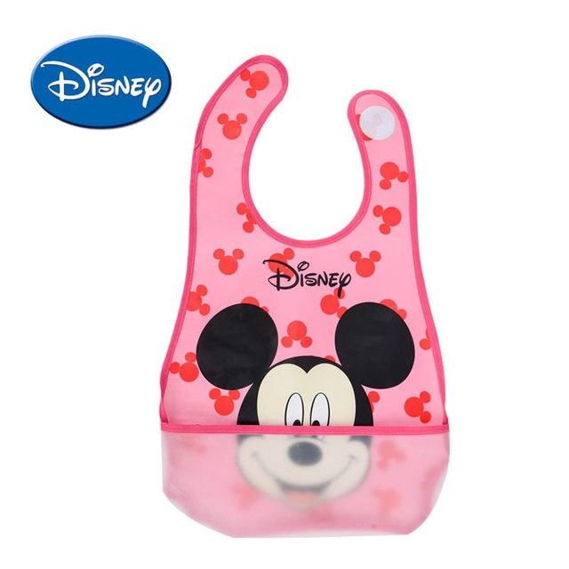 Baberos de bebé a prueba de agua de Disney Mickey Burp Saliva toalla Minnie dibujos animados niños paños de algodón niño y niña Babador accesorios
