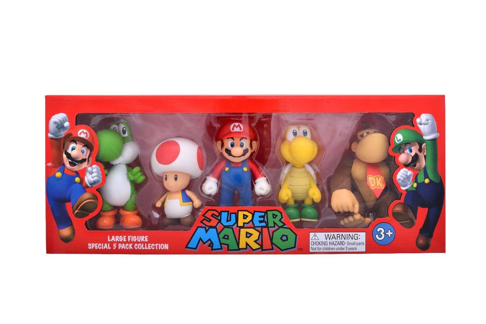 Nouveau Super Mario grande figurine spécial 5 Pack Collection jouet cadeau 10-12 cm