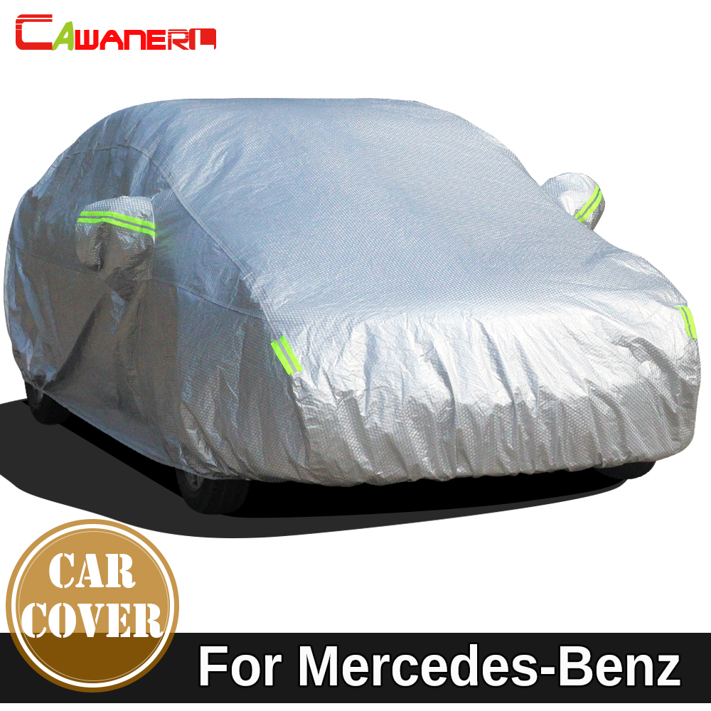 Cawanerl Waterproof Car Cover Sun Snow Rain Protect Cover For Mercedes Benz GLA GLC GLE GLK GL GLS SLC SLK Class X156 X253 X204 buildreamen2 waterproof car covers sun snow rain hail scratch dust protection cover for mercedes benz gle 350 400 450 300 320