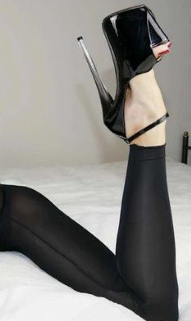 98ecf47e24a DEleventh new fashion women s pumps 18cm extreme high heels stilettos high- heeled shoes peep toe water woman pumps sandals black