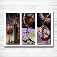 Wine culture home decor diy painting dmc 14CT 11CT counted cross stitch kits embroidery set Needlework Set chinese