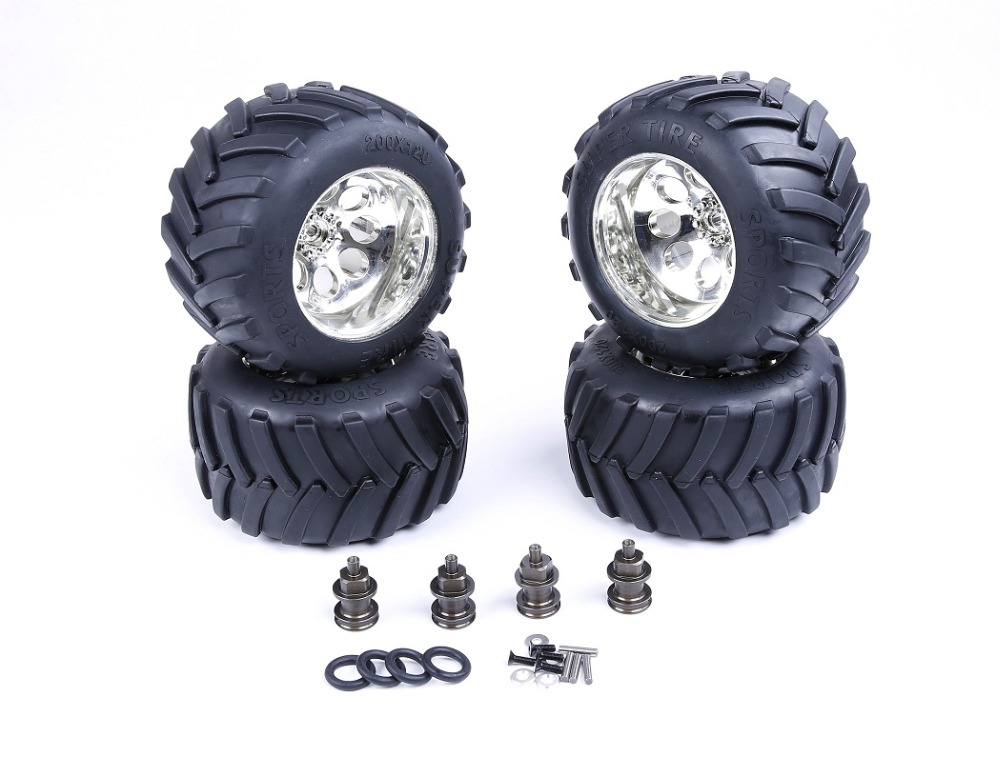Modified Bigfoot tire assembly kit  for 1/5 LT Losi 5ive-T Rovan SLT BAJA 4WD