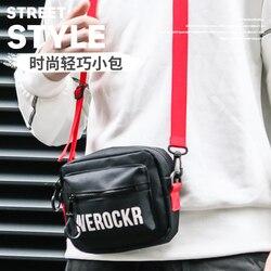 Мужская Диагональная Сумка с буквами, мужская сумка на плечо, мини хип-хоп модная сумка, водонепроницаемый чехол для телефона