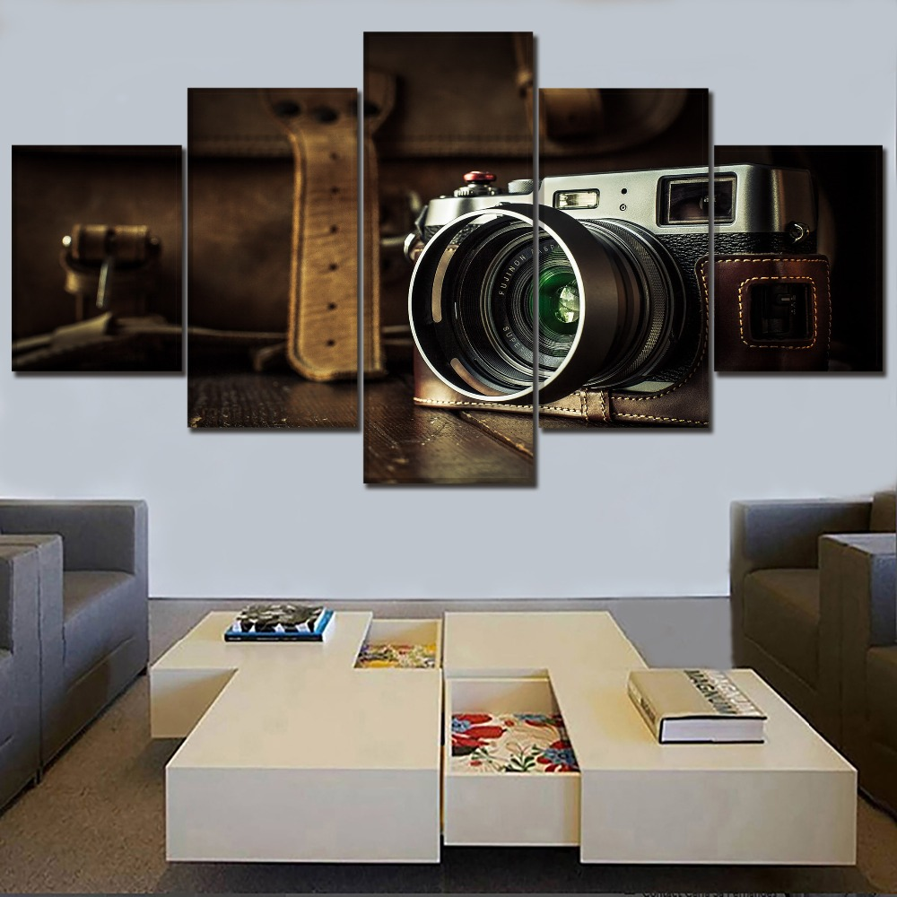 Retro Camera Canvas Painting Home Decor  1