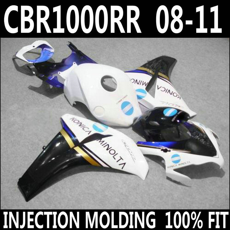High quality <font><b>parts</b></font> for HONDA <font><b>2008</b></font> 2009 2010 2011 <font><b>cbr1000rr</b></font> fairings CBR 1000 RR 08-11 white black jewely blue fairing FVY86 image