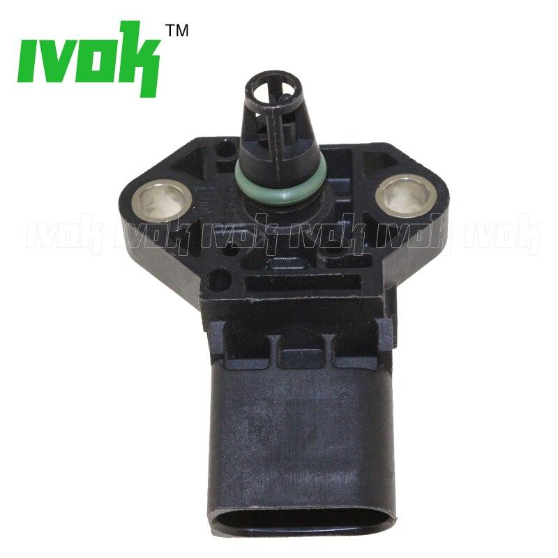 4 BAR Intake Manifold Boost Pressure MAP Sensor Drucksensor For VW Audi 03K906051 0281006059 0281006060