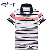 Tace Shark Man Polo Shirt Short Sleeve Casual Men Business Work Shirts Slim Fit Polos Tees Luxury Men Shirts Plus Size 3XL