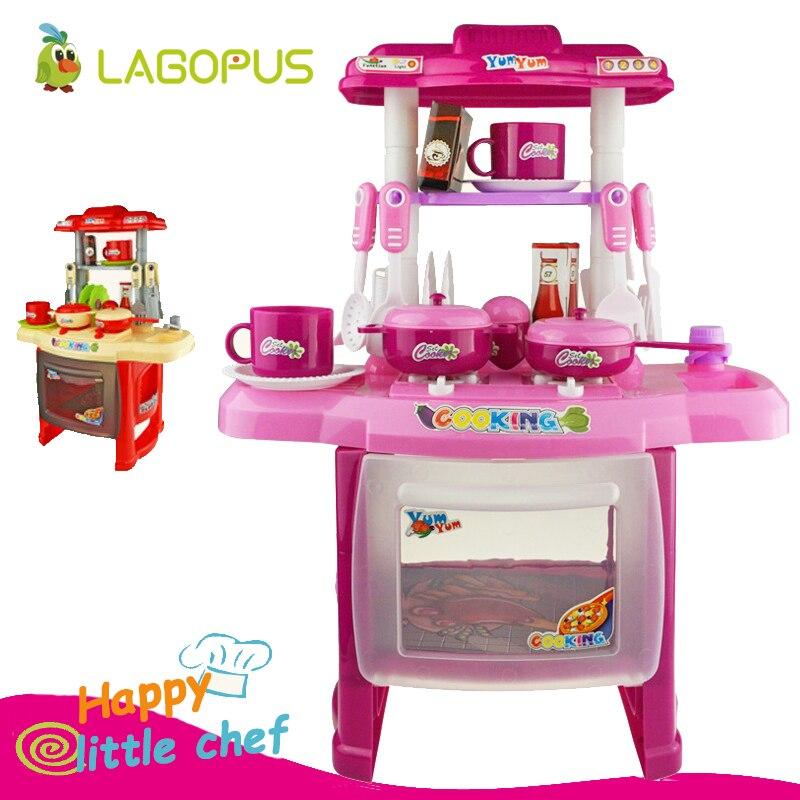 Lagopus enfants Simulation cuisine jouets enfants jouer maison jouets bébé cuisine jouets ensemble éducatif avec lumière et son bébé cadeaux