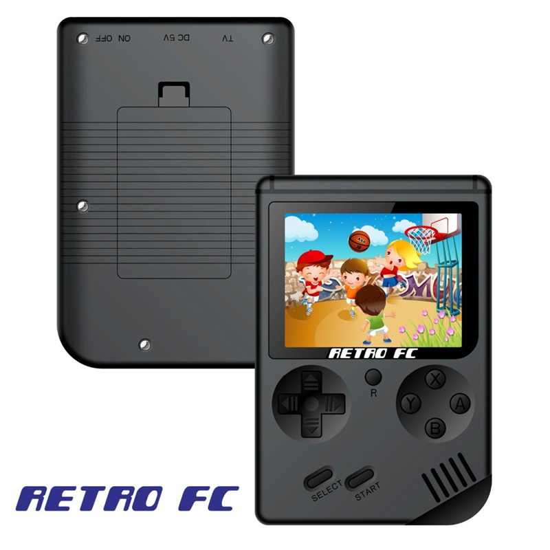 Image 2 - Mini retro classic game handheld video 168 game console 3 inch 8 bit gaming console with 168 free games-in Handheld Game Players from Consumer Electronics