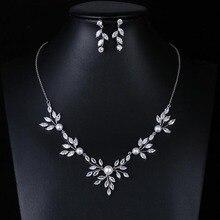Red Trees ensemble de bijoux de mariage pour femmes, ensemble de bijoux de luxe avec collier et boucles doreilles, à la mode