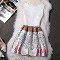 2016 Весной И Летом женщин Новый Европейский И Американский Печати Жилет Без Рукавов Dress LYQ030