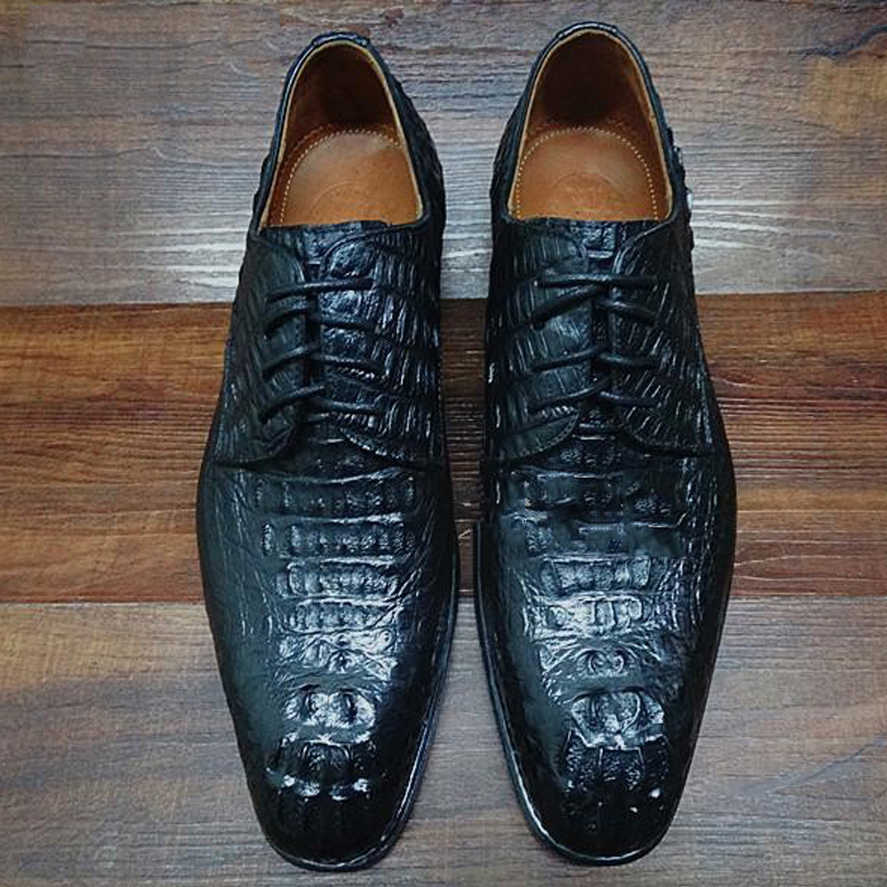 Aliexpress.com : Buy Luxury Mens Alligator Skin Shoes Male ...