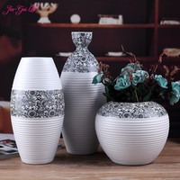 Classic white ceramic vase Chinese crafts decoration simple porcelain creative gift home