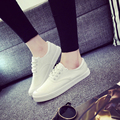 Muchacha de la manera zapatos de lona atan para arriba zapatos estudiante universitario adolescente mujeres clásico blanco calzado femme señoras sapatos scarpe donna