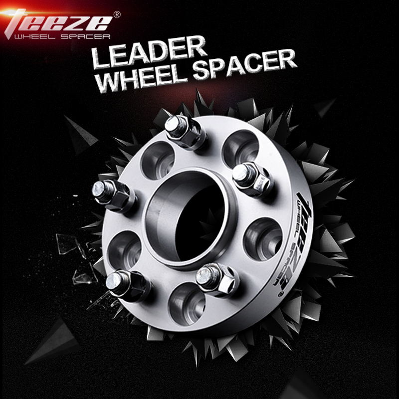 Teeze espaçador de roda de alumínio 2 peça para vw golf passat skoda octavia seat leon mk3 adaptador 5x112mm centro furo 57.1mm