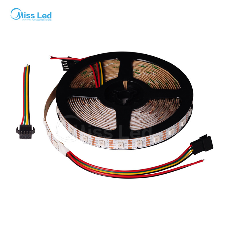 Wholesale 5m 60 leds/m SK9822 - APA102 led pixel strip,White PCB,Non-Waterproof  SMD5050 Individually DATA and CLOCK seperately 144leds m ws2812b 5050 rgb led with ws2811 ic built in led pixel strip dc5v 2m long waterproof in silicon tube white pcb